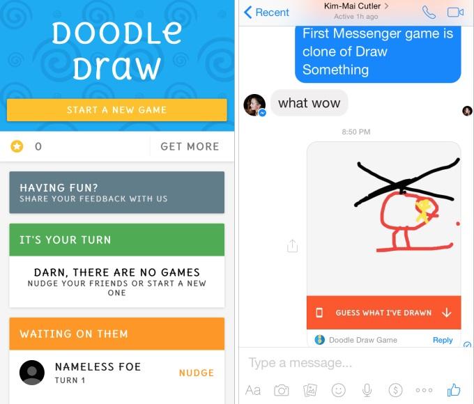 doodle draw facebook messenger