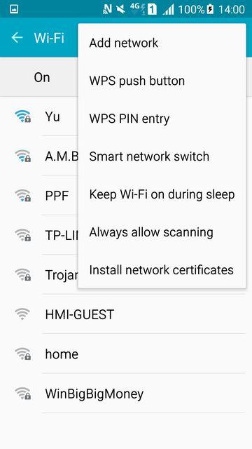 Galaxy S6 Smart Network Switch