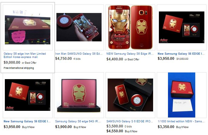 Galaxy S6 Edge iron man ebay