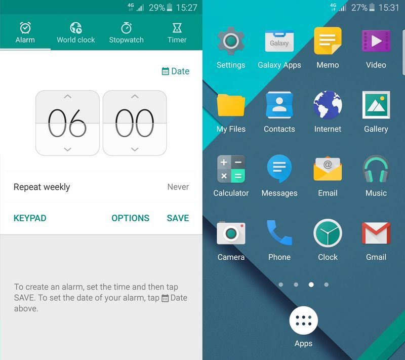 Galaxy S6 Material Design