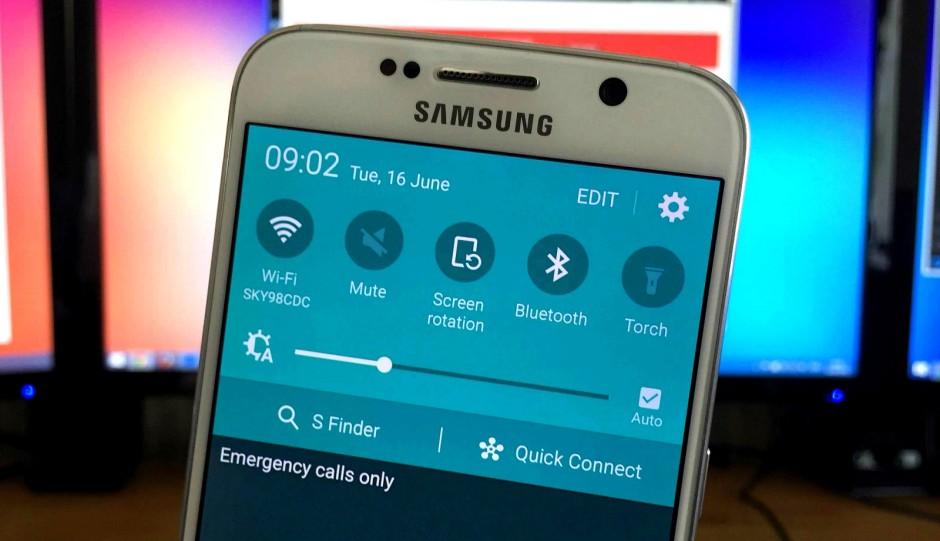 Galaxy S6 parametres rapides