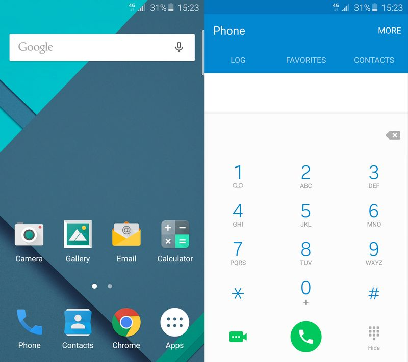 Galaxy S6 stock Android