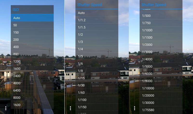 Galaxy S6 vitesse obturation