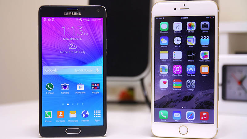 galaxy note 4 meilleure satisfaction client iphone 6