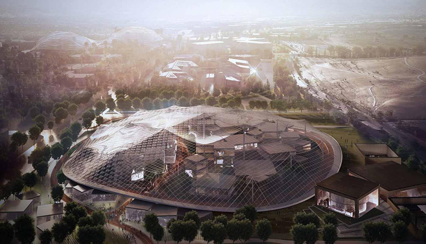 Concept art du nouveau campus Google
