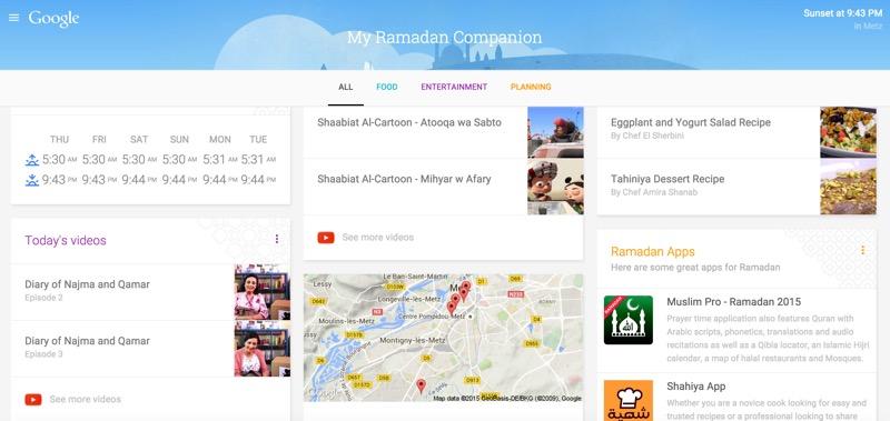 google ramadan page dediee