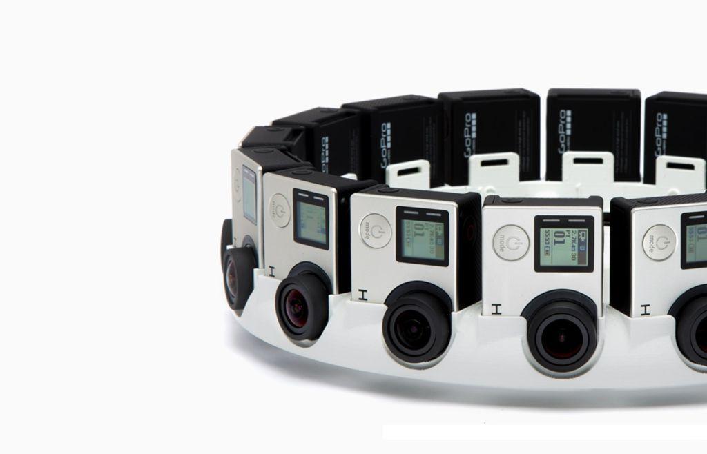 16 caméras équipent la Google Jump pour filmer à 360°