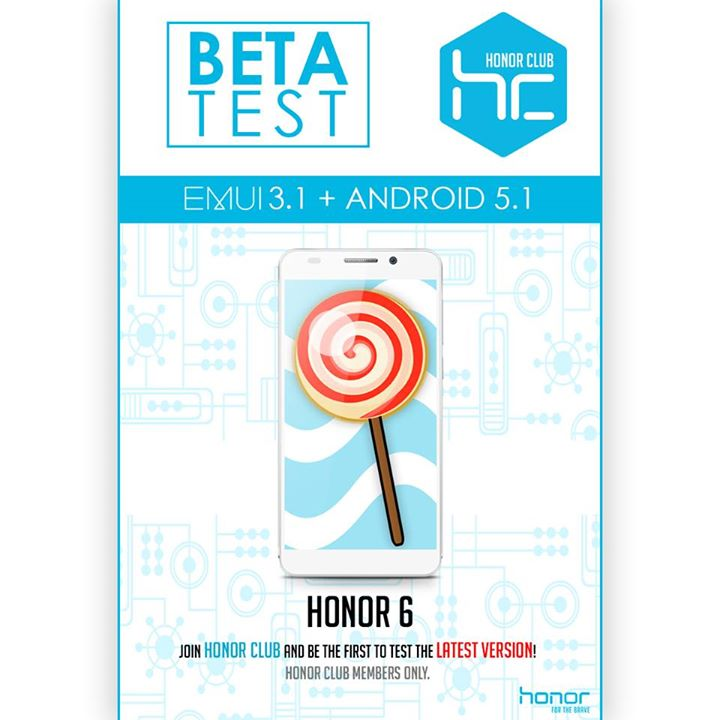 honor 6 beta android lollipop