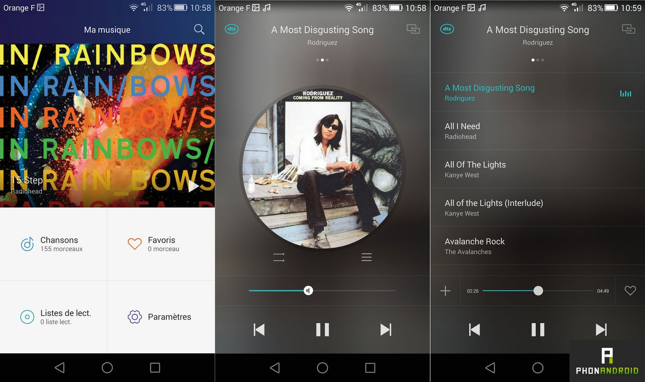 honor 6 plus application musique