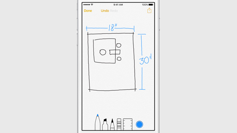 ios 9 notes dessin