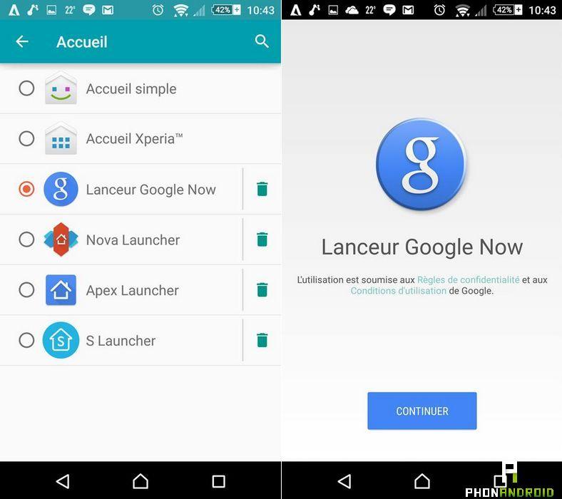 launcher Google Now