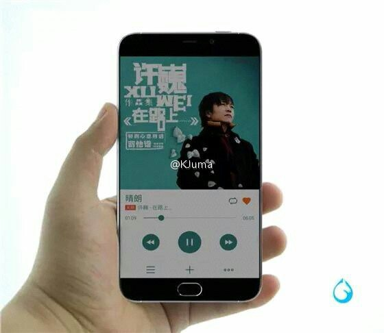 Meizu MX5 rendu avant