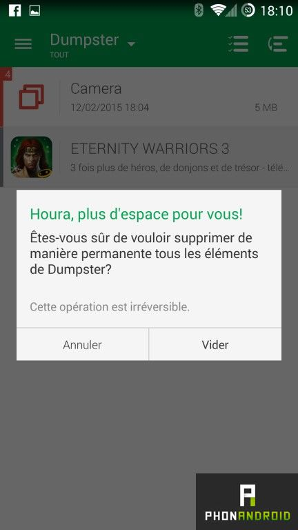 recuperer fichiers android