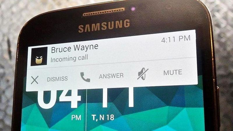refuser appel entrant SMS