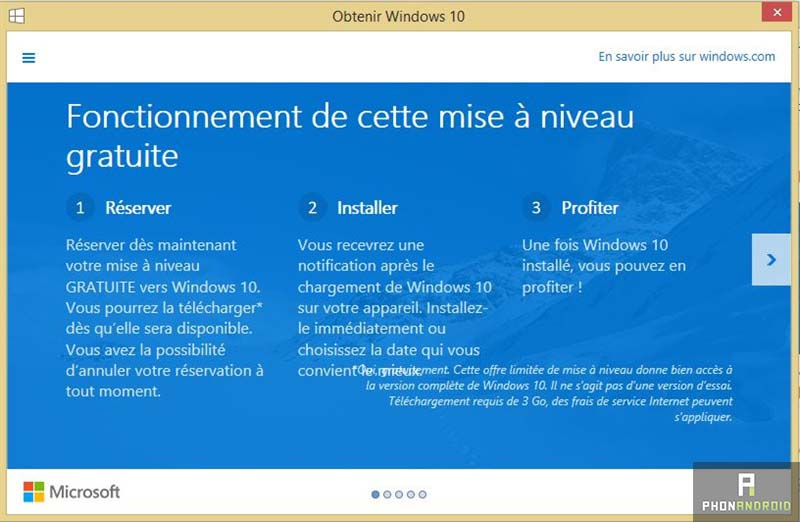 reserver Windows 10