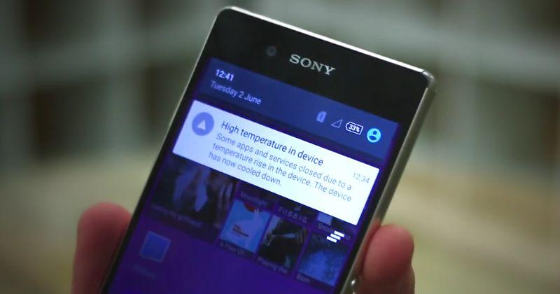 Sony Xperia Z4 surchauffe