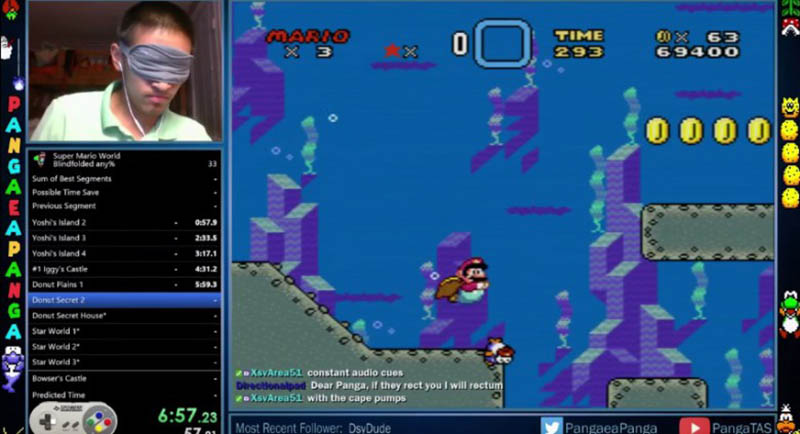 super mario world 23 minutes yeux bandes
