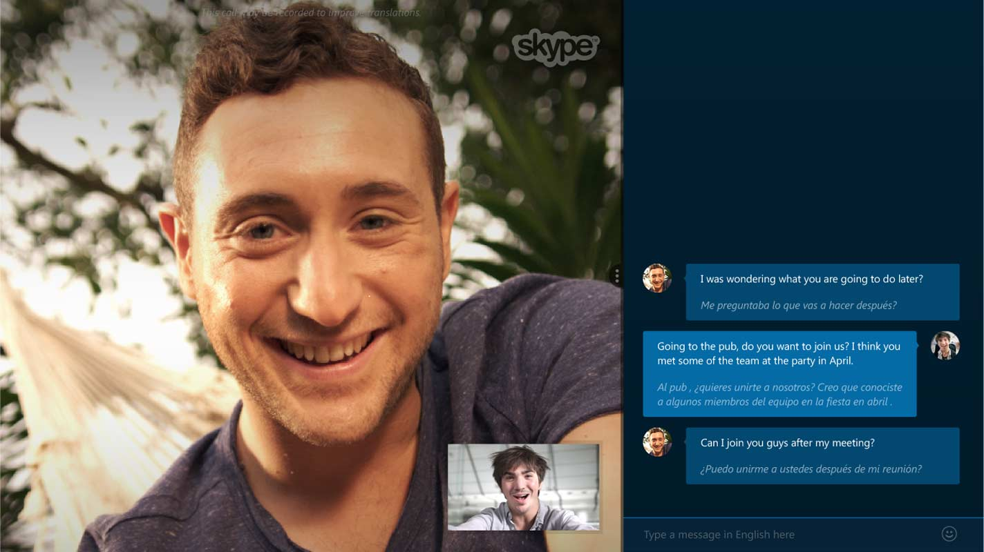 Skype Translator français allemand