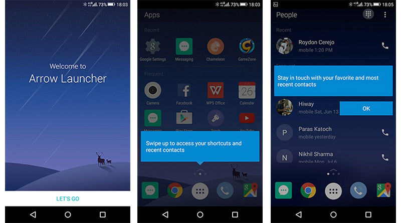 Microsoft Arrow Launcher Android applications