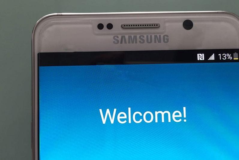Galaxy Note 5 ecran accueil