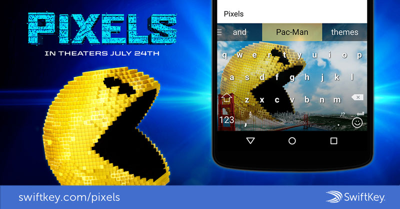Swiftkey Pixels skin Pac-Man