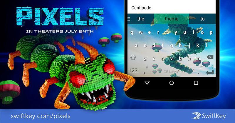 Swiftkey Pixels skin Centipede