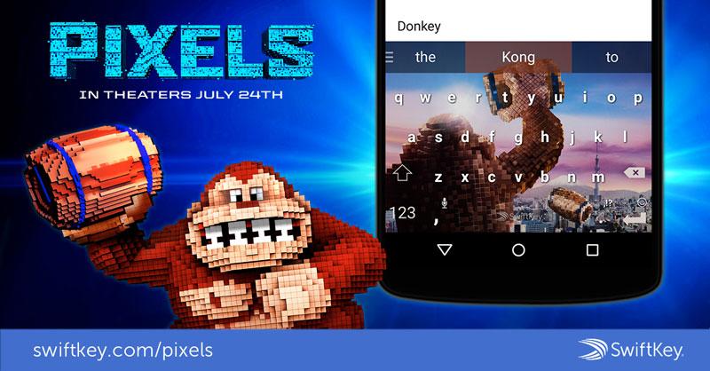 Swiftkey Pixels skin Donkey Kong