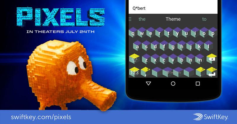 Swiftkey Pixels skin Q*Bert