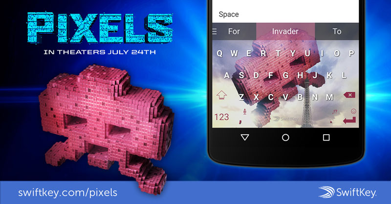 Swiftkey Pixels skin Space Invaders