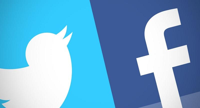 Twitter Facebook 63 % informations