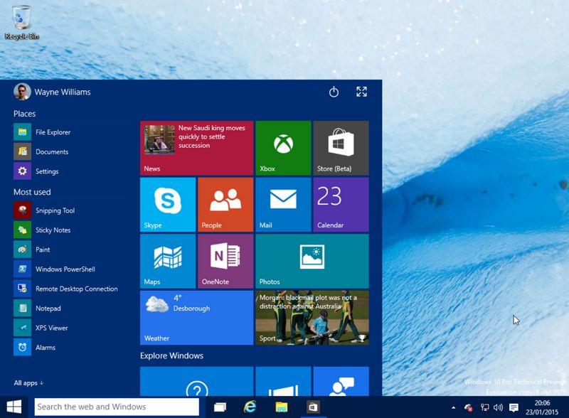 Windows 10 demarrer