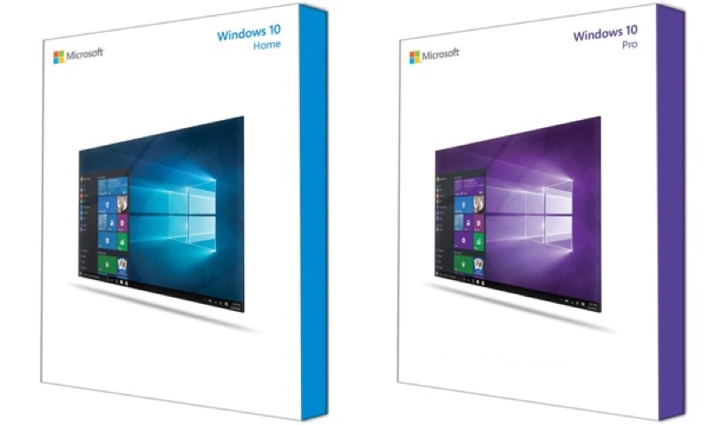 windows 10 packaging officiel versions cd