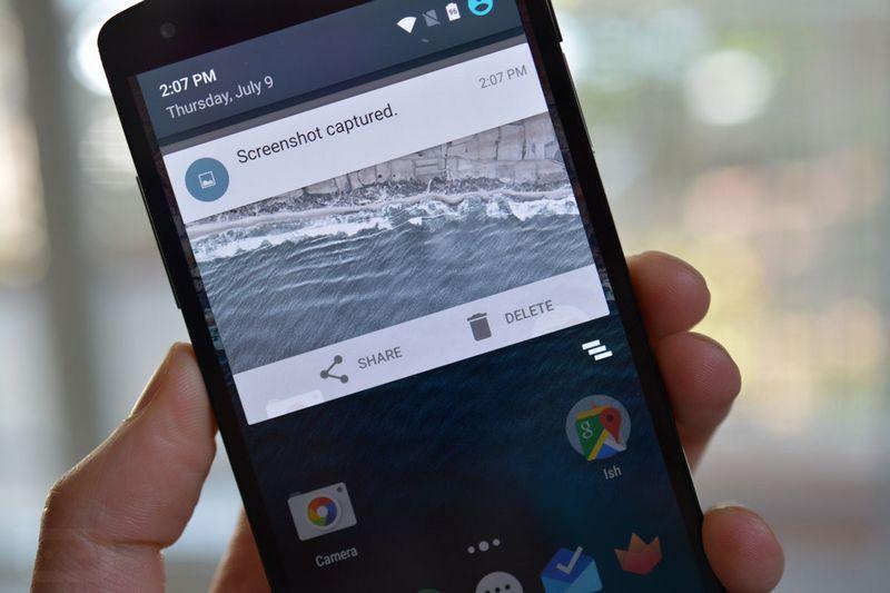 Android M capture ecran