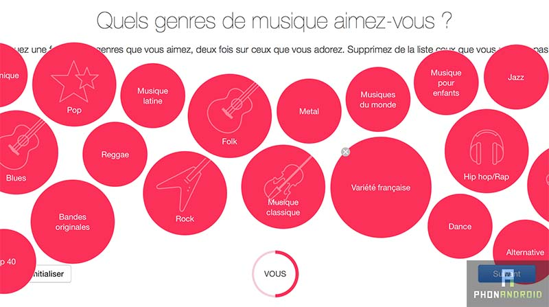 apple music recommandation style