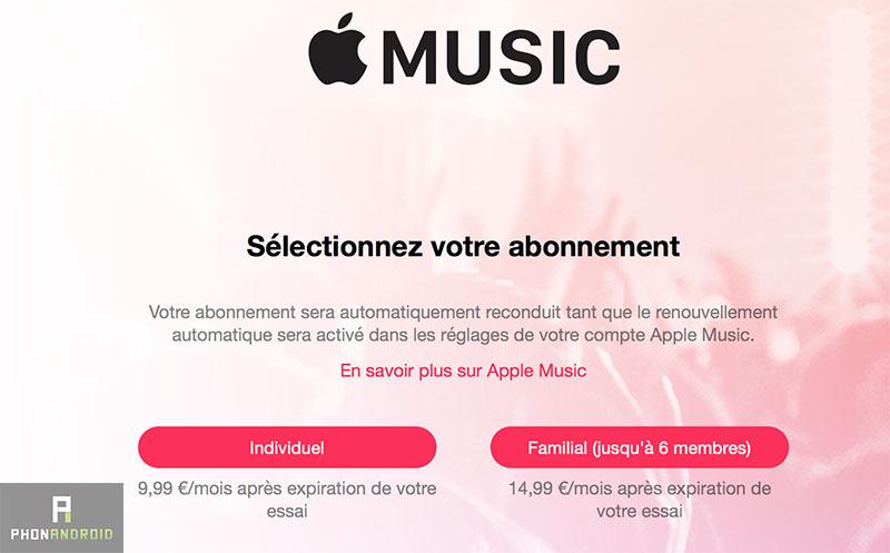 apple music abonnement