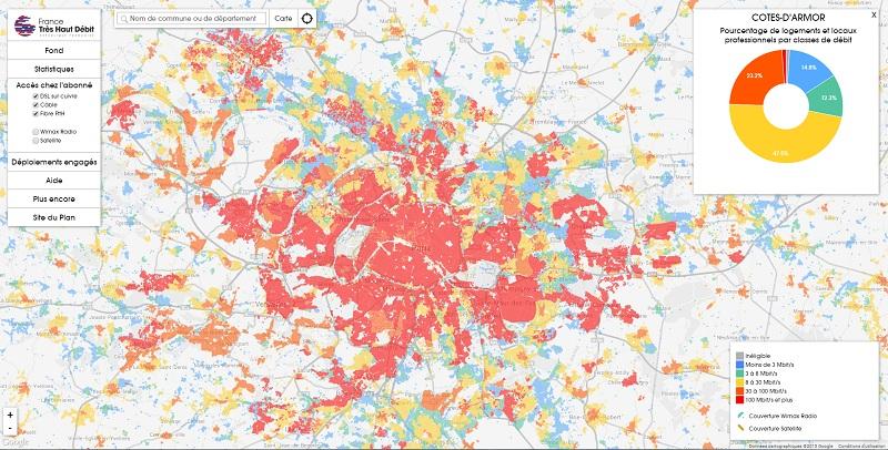 Carte très haut débit France