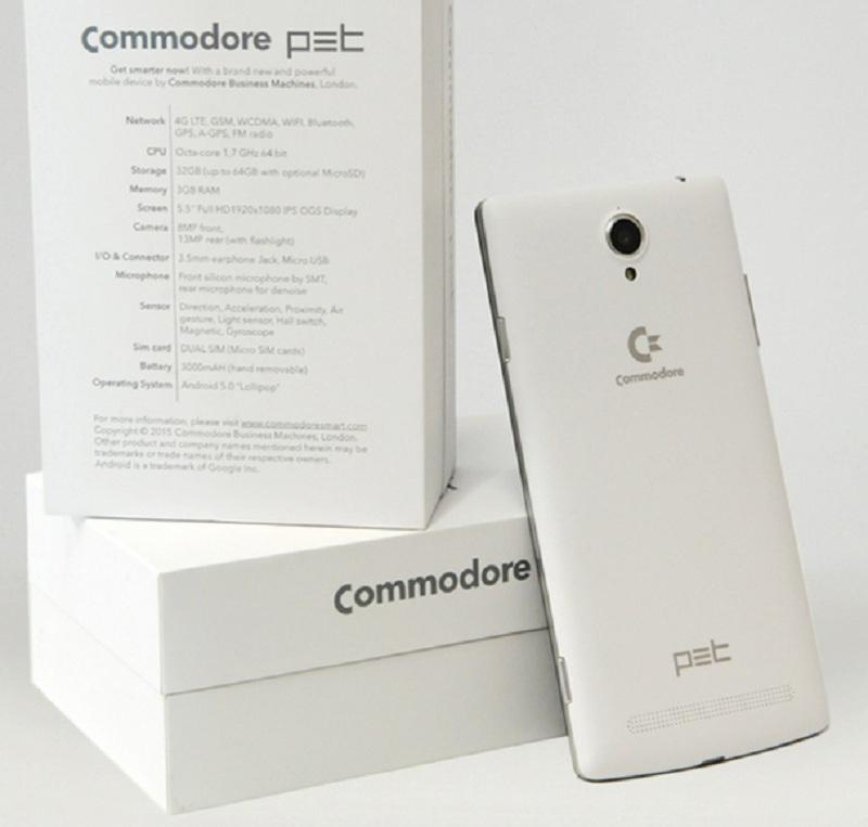 Commodore PET smartphone émulateur Android Lollipop  arrière pack