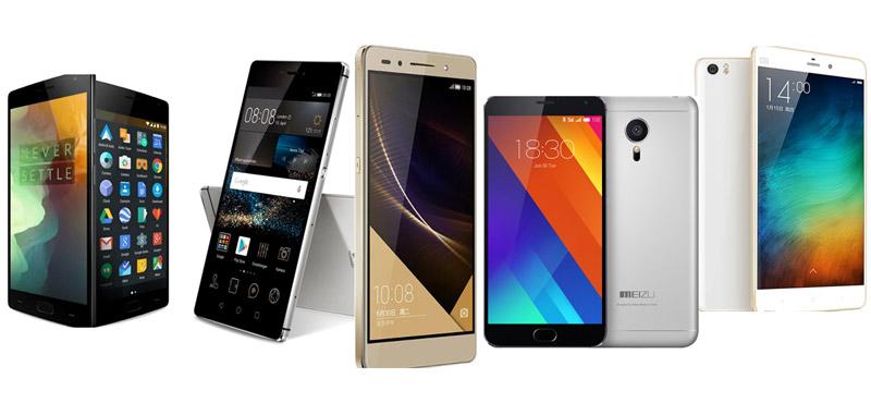 OnePlus Two comparaison smartphones asiatiques