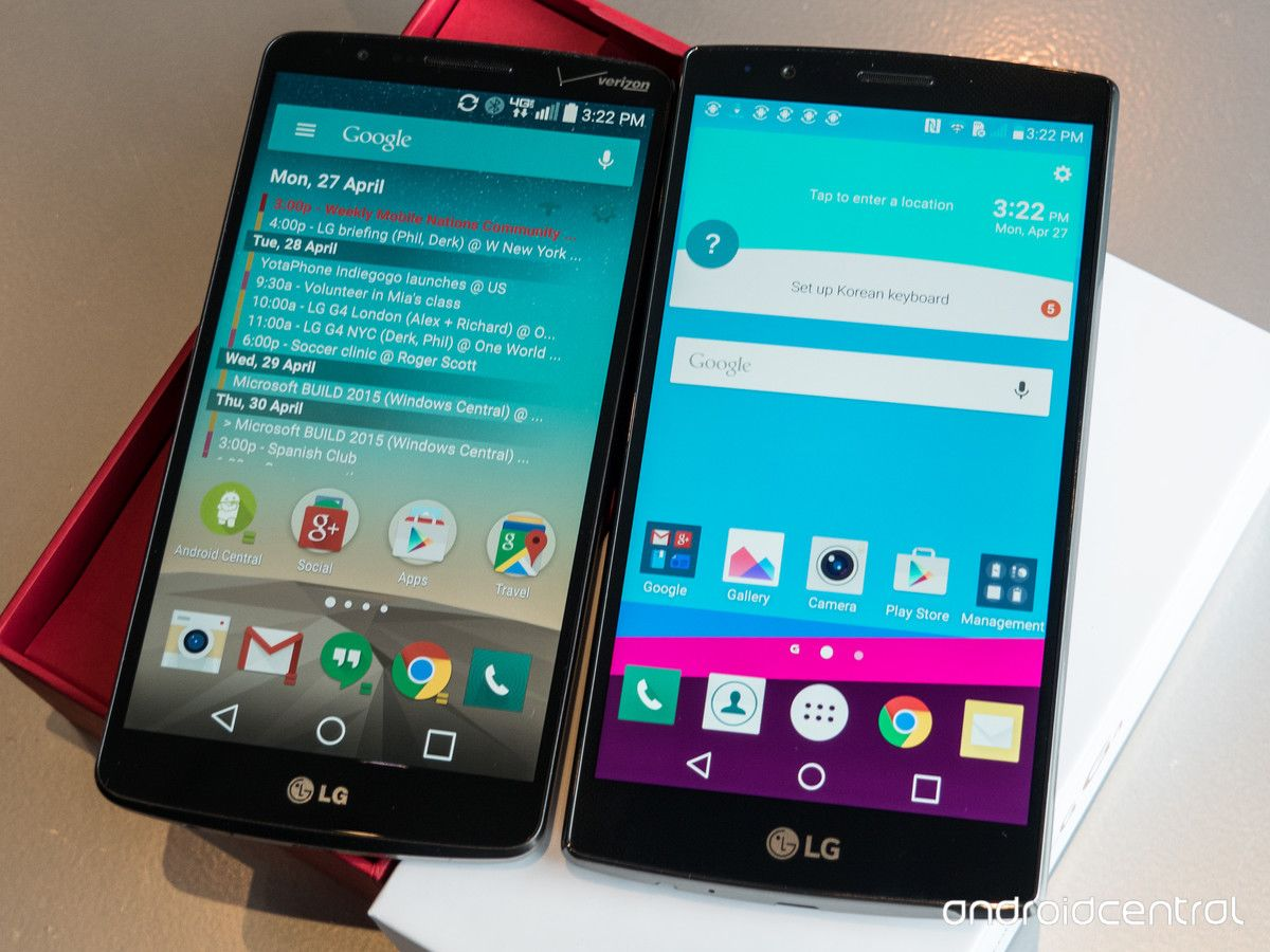ecran LG G4 vs G3