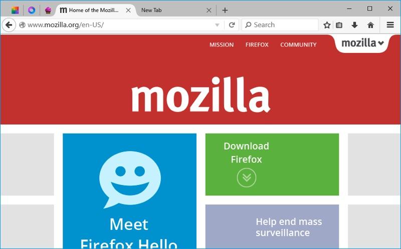 firefox windows 10 mozilla interface