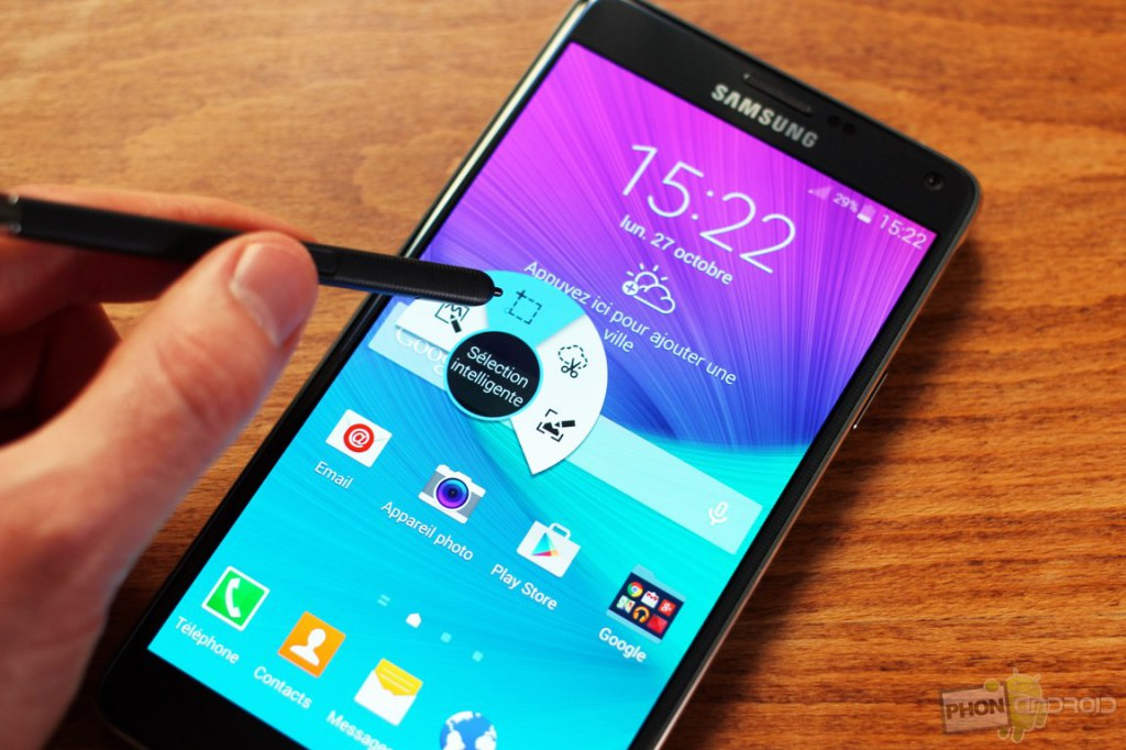 Galaxy Note 4 ecran