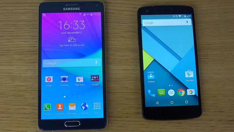 Galaxy Note 5 Nexus 5