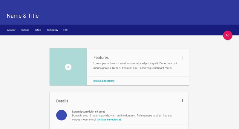 material design Google Kit développement