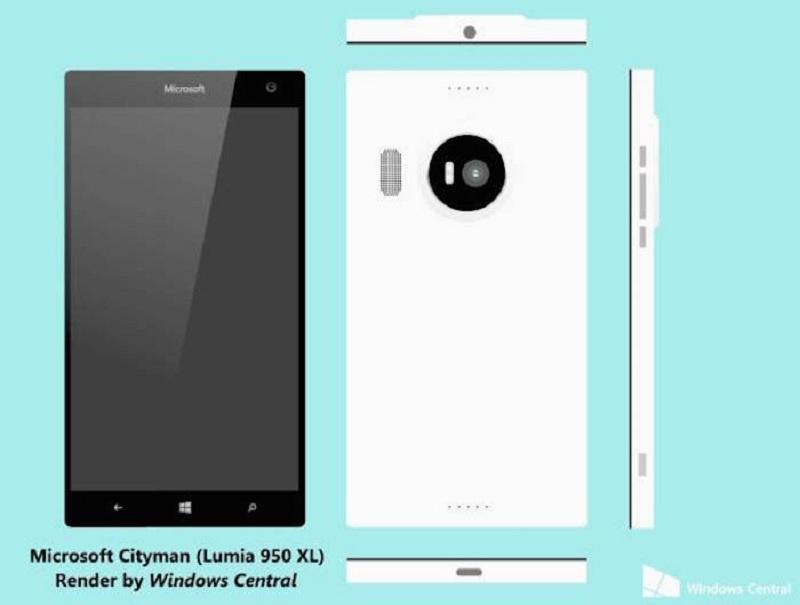 Rendu Lumia 950 et 950 XL