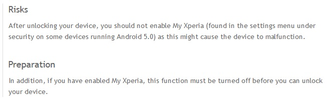 my xperia theft protection brick