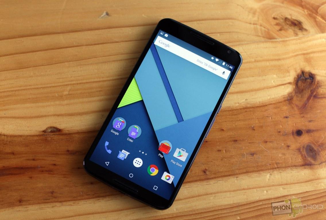 Nexus 6 ecran