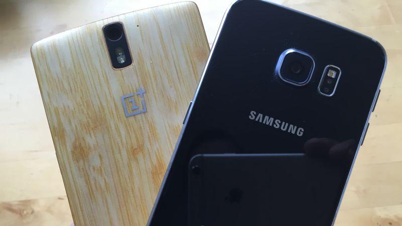 OnePlus 2 Galaxy S6 capteur photo