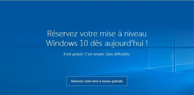 réserver mise à niveau windows 10 gratuite