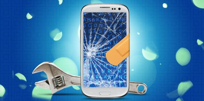 Smartphone gel enduit cassé auto-réparation écran