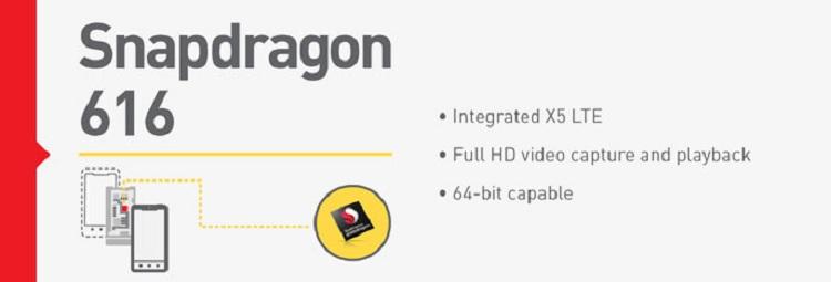Snapdragon 616 caractéristiques